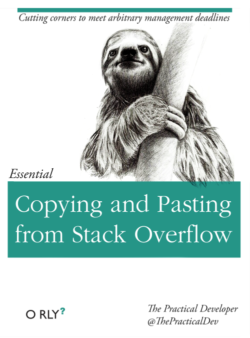 Copying and Pasting from Stack Overflow book cover
