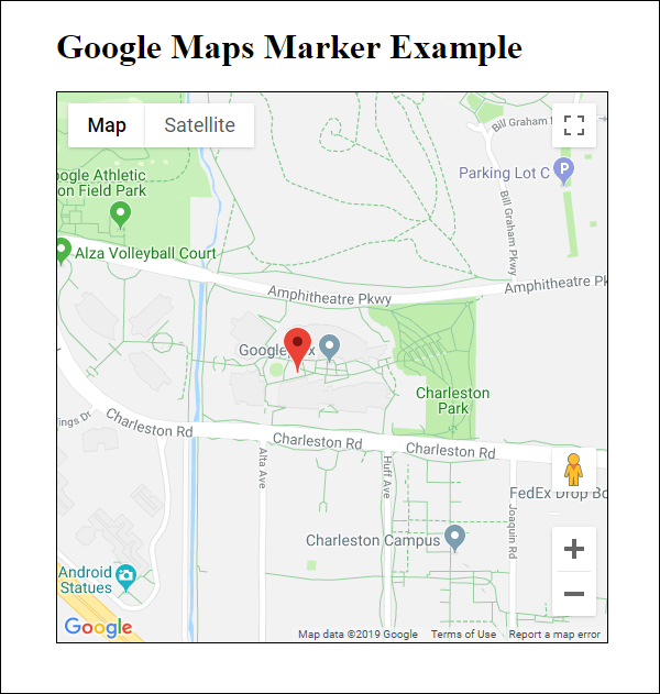 Google Map with marker