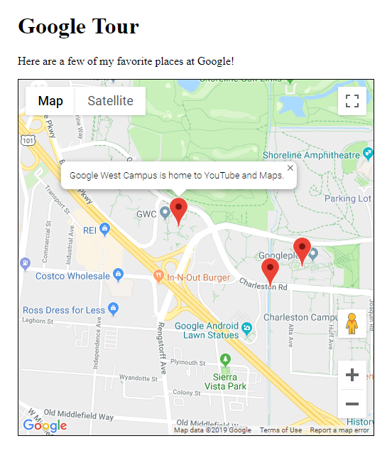 Google Map with multiple markers