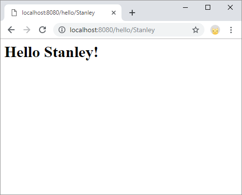 hello Stanley webpage