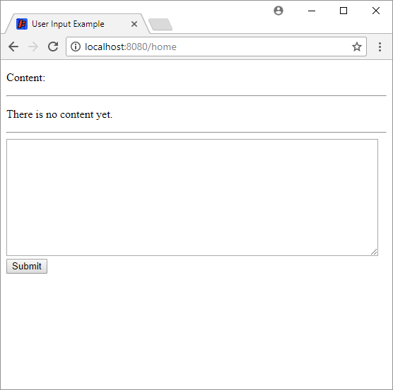 simple content form