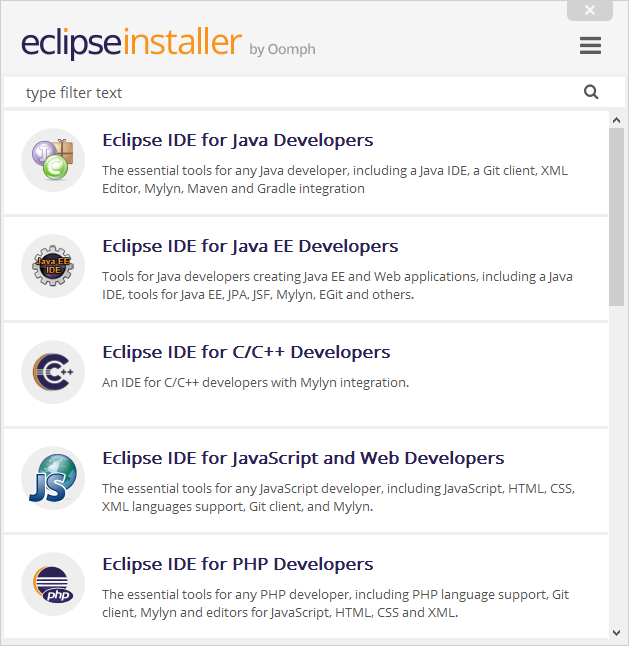 Eclipse installer