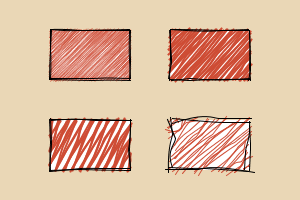 hand-drawn rectangles